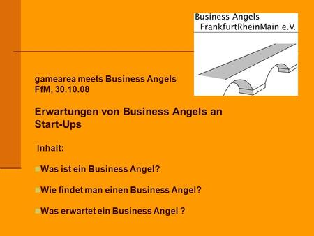 Erwartungen von Business Angels an Start-Ups