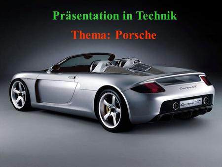 Präsentation in Technik
