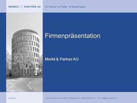 firmenprsentation merkli partner ag - Firmenprasentation Muster
