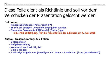Dokument Präsentationsfolien (Powerpoint 97)