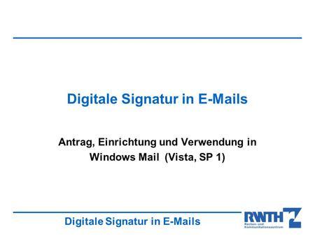 Elektronische Signatur - ppt video online herunterladen