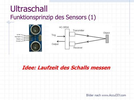 Ultraschall Funktionsprinzip des Sensors (1)