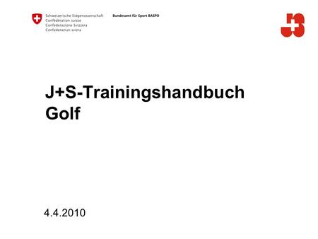 J+S-Trainingshandbuch Golf