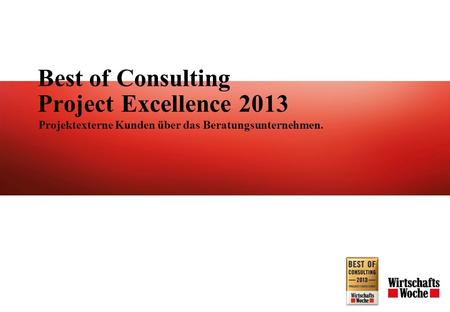 Best of Consulting Project Excellence 2013