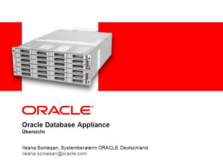 Oracle Database Appliance Übersicht