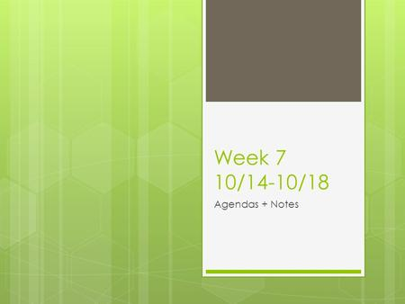 Week 7 10/14-10/18 Agendas + Notes. 14.10.13 RMS Glöckner I swim. He jogs. We live. Yall sing. Hausaufgaben She watches TV. You (f) play tennis. You (i)