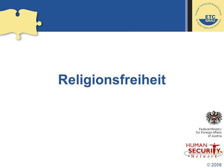 Religionsfreiheit Federal Ministry for Foreign Affairs     of Austria