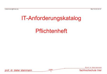 IT-Anforderungskatalog