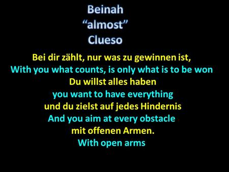 "Beinah ""almost"" Clueso"