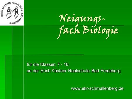 Neigungs-fach Biologie
