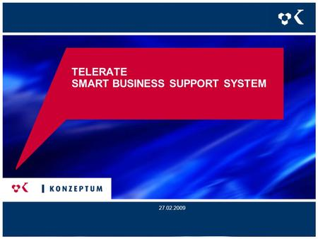 TELERATE SMART BUSINESS SUPPORT SYSTEM 27.02.2009.