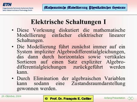 Modellierung Elektrischer Schaltkreise - ppt herunterladen