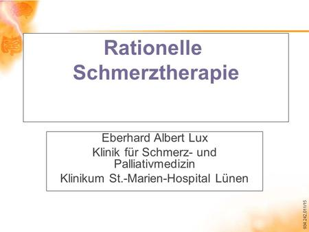 Rationelle Schmerztherapie