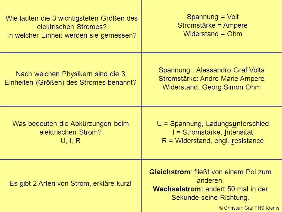 PHYSIKFRAGEN Wissen aus dem Stoff der Mittelschule Klasse 3 - ppt ...