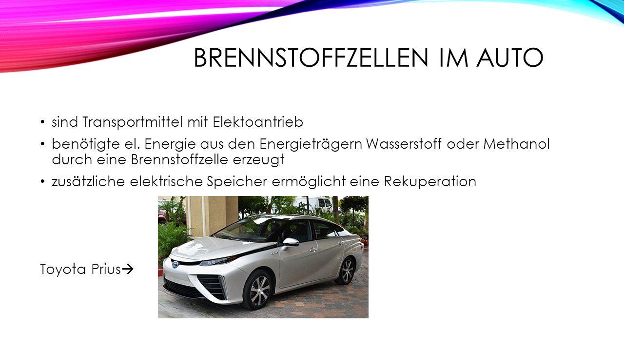 Inhaltsangabe Ziele Brennstoffzellen & Auto Häuser & Arbeitsplatte ...