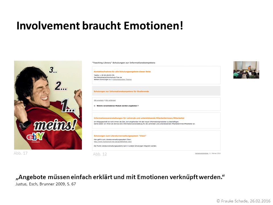 Involvement braucht Emotionen!