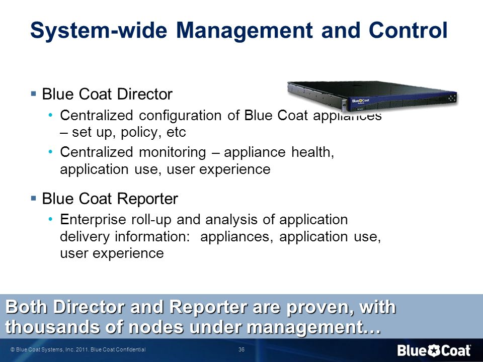 System-wide Management and Control
