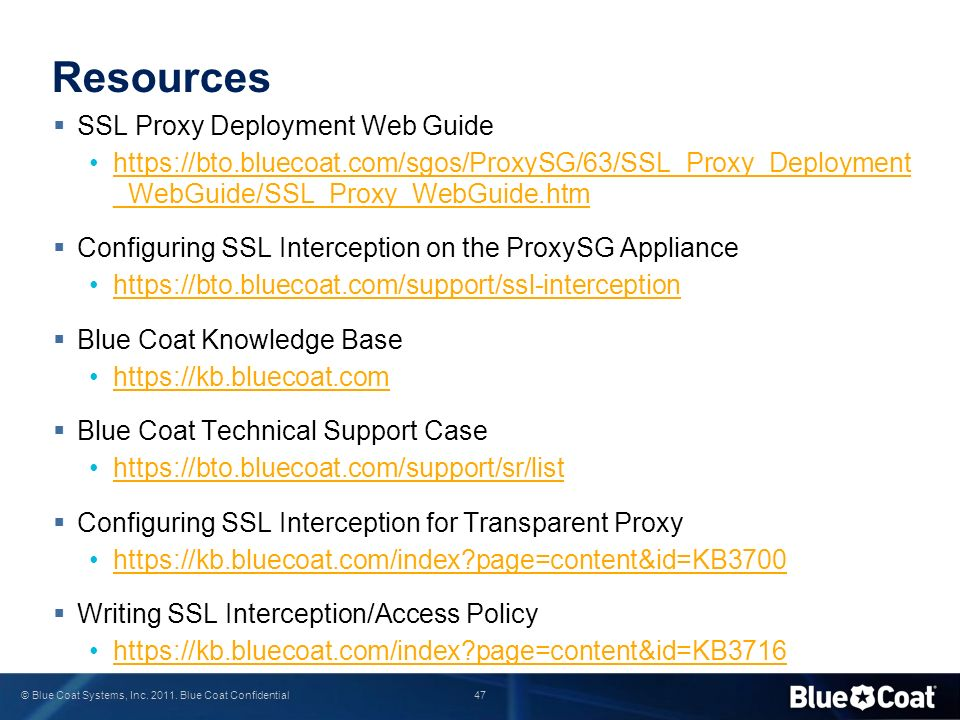 Resources SSL Proxy Deployment Web Guide