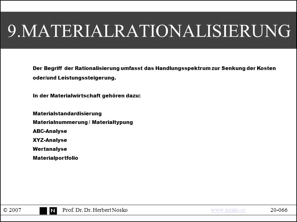 9.MATERIALRATIONALISIERUNG