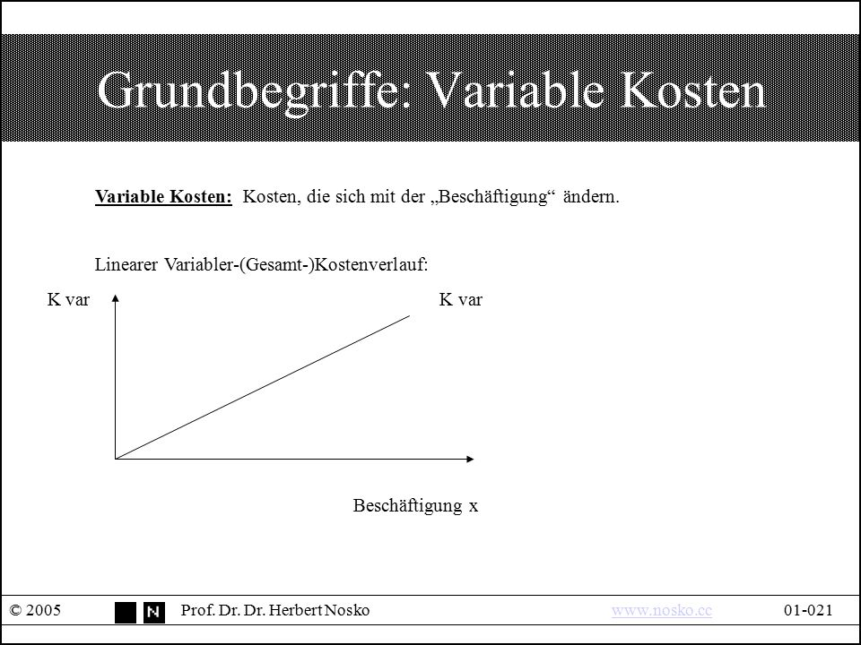 Grundbegriffe: Variable Kosten