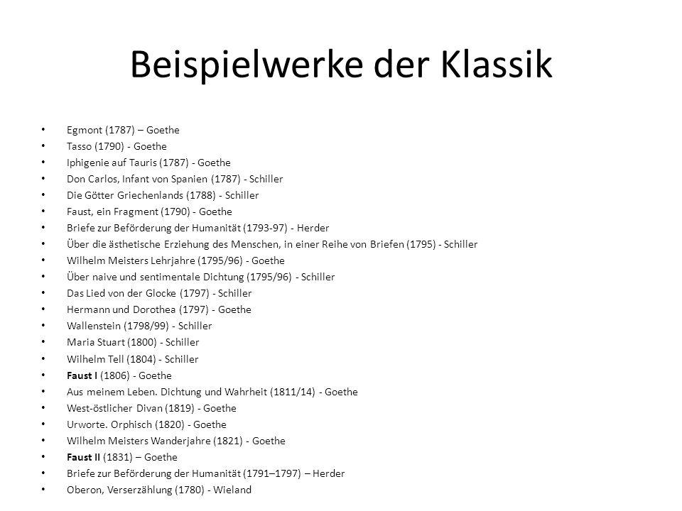 Literaturepoche Der Klassik Ppt Herunterladen
