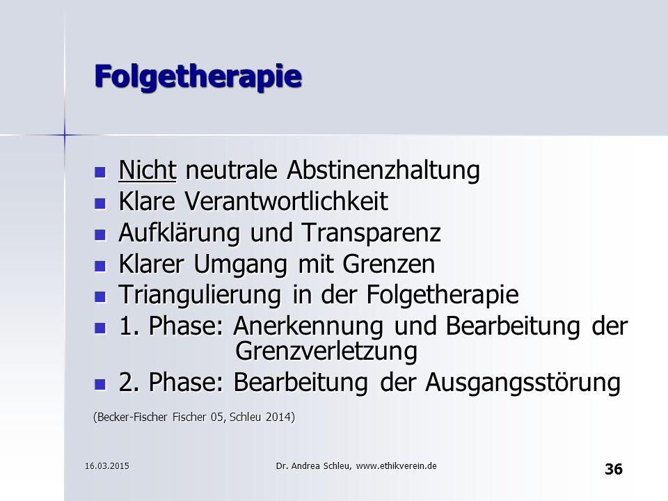 Gruppentherapie datiert