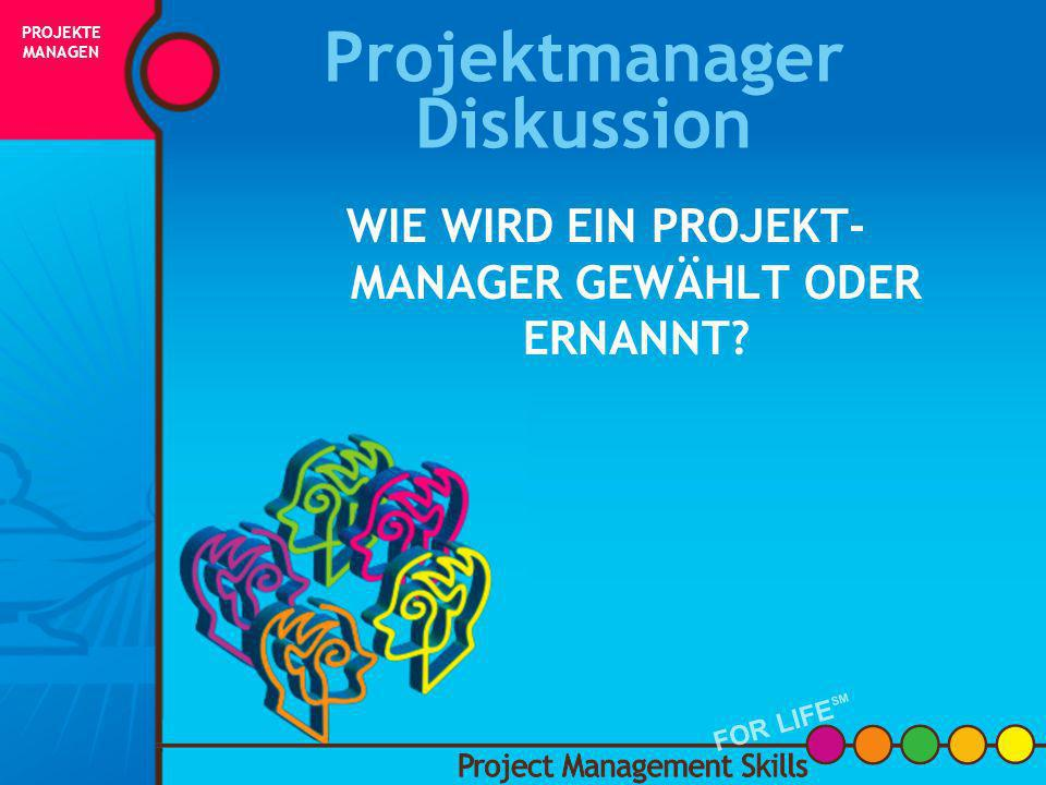 Projektmanager Diskussion
