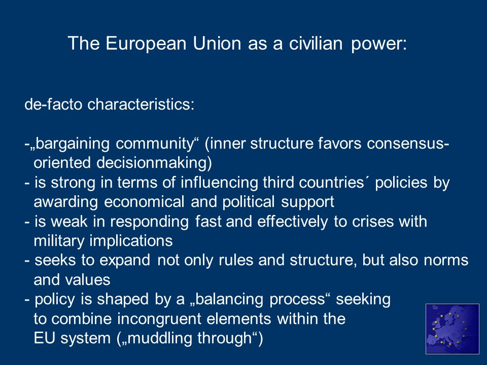 The European Union as a civilian power:
