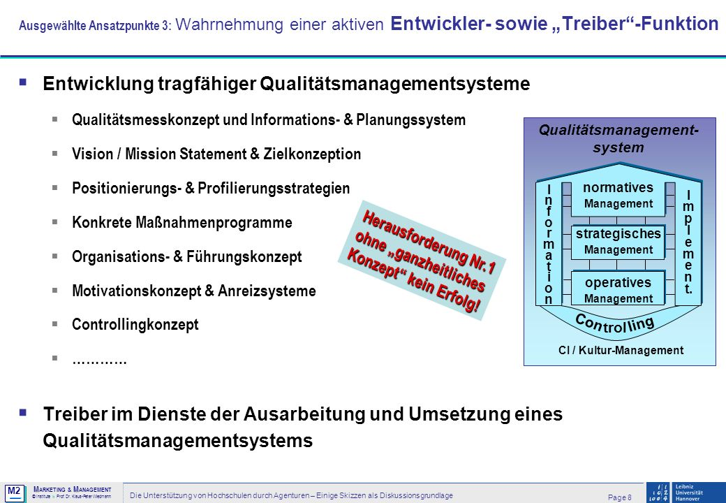 CI / Kultur-Management Qualitätsmanagement-