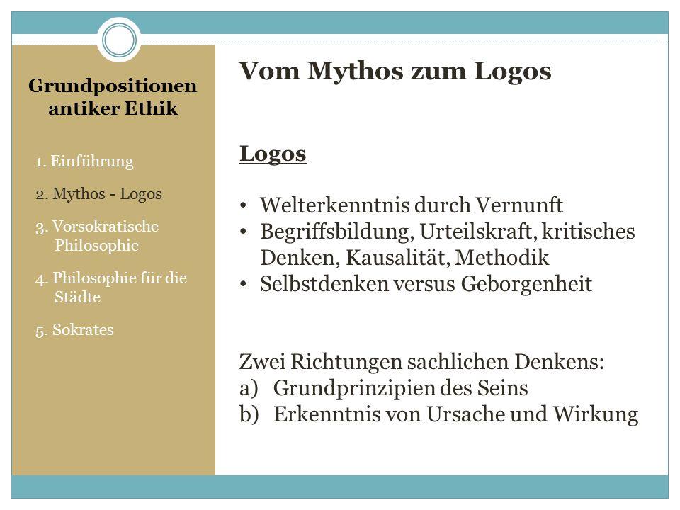 vom mythos zum logos