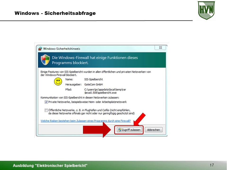 Windows - Sicherheitsabfrage