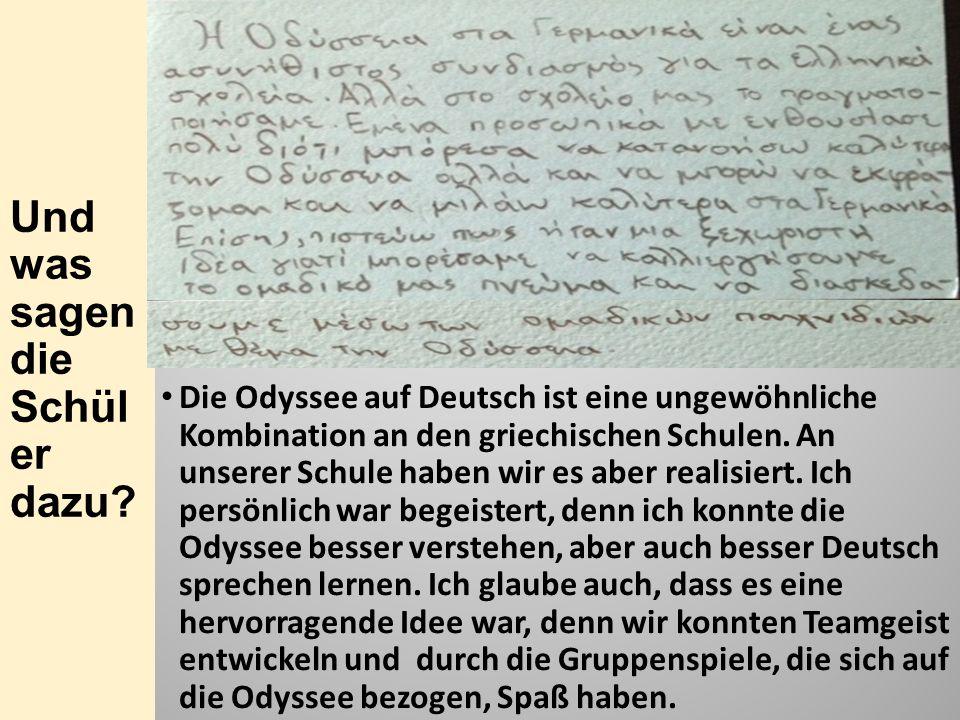 """Fachübergreifender Unterricht am Beispiel der """"Odyssee"""" von Homer ..."""