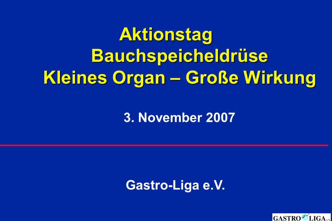 Aktionstag Bauchspeicheldrüse Kleines Organ Große Wirkung 3 Ppt
