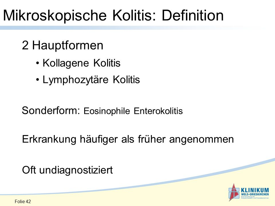 Mikroskopische Kolitis: Definition