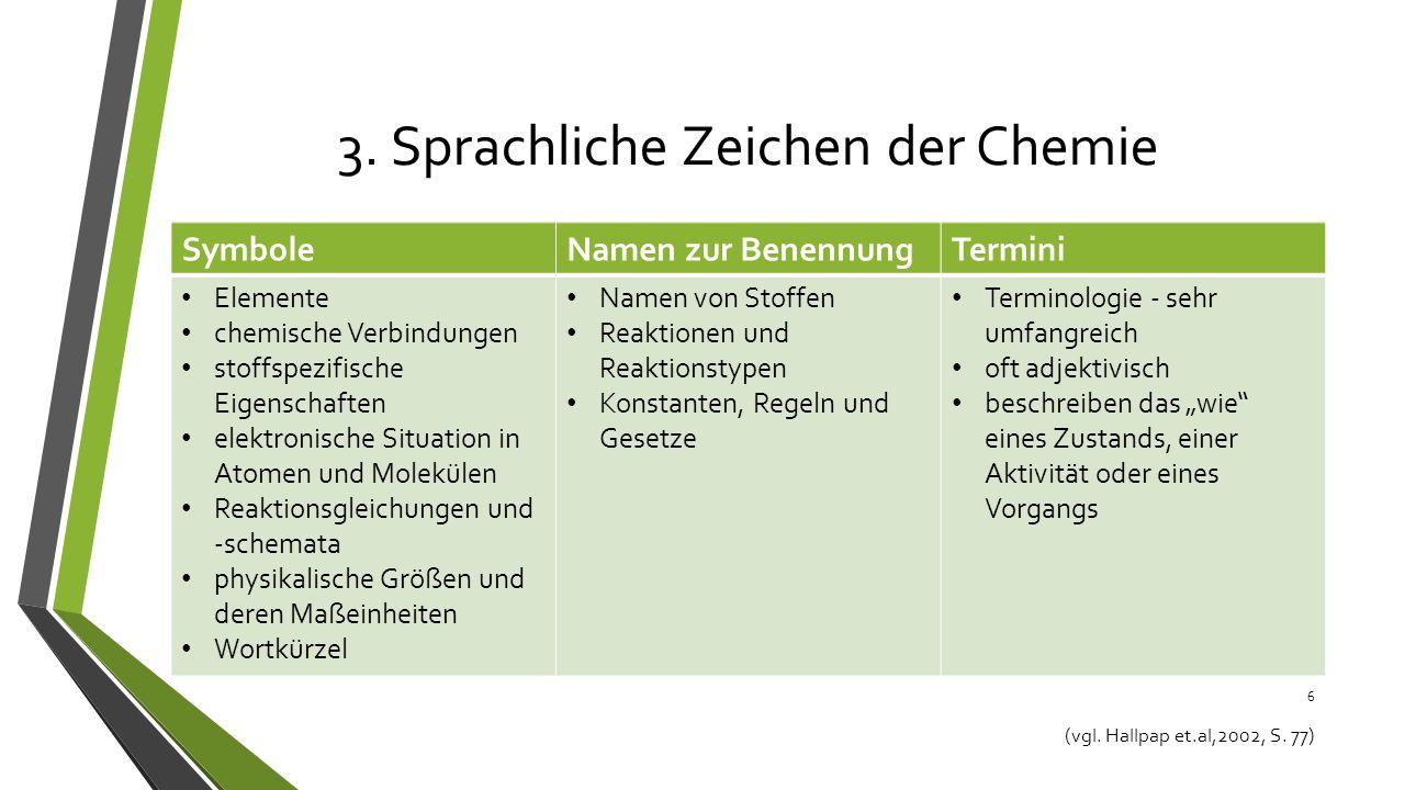 Die Fachsprache Im Chemieunterricht Ppt Video Online