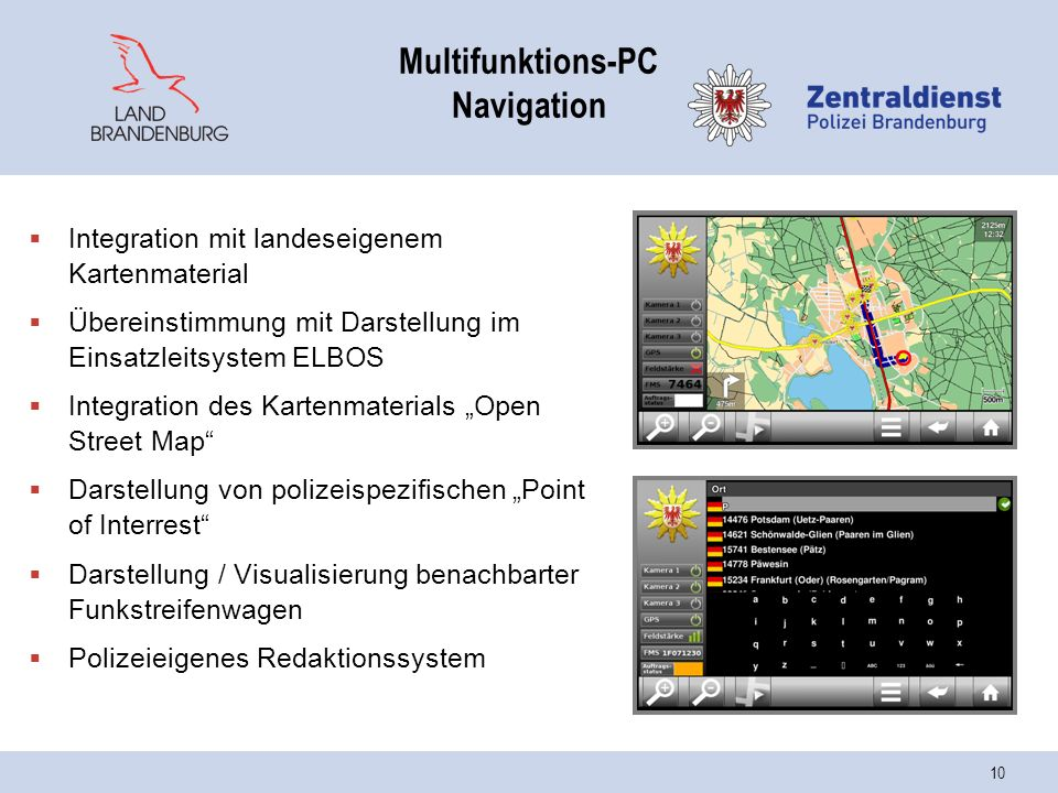 Multifunktions-PC Navigation