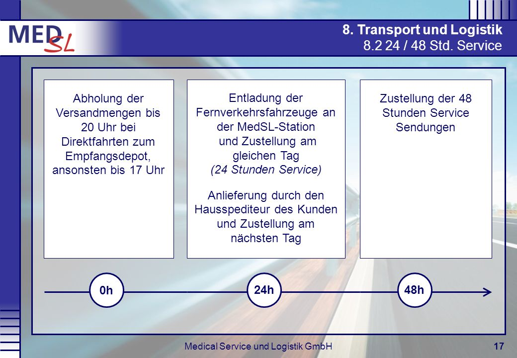 8. Transport und Logistik / 48 Std. Service