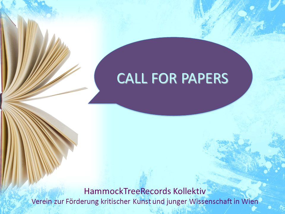 CALL FOR PAPERS HammockTreeRecords Kollektiv