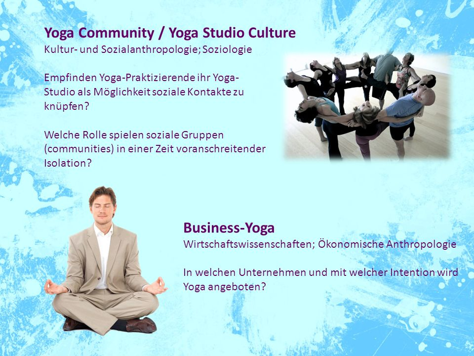 Yoga Community / Yoga Studio Culture