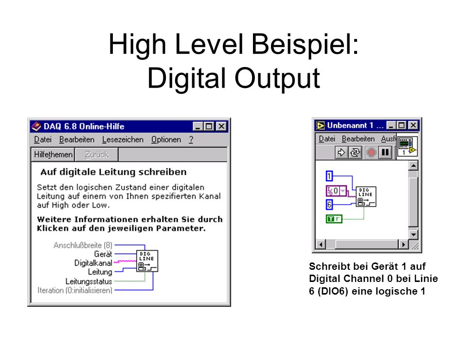 High Level Beispiel: Digital Output