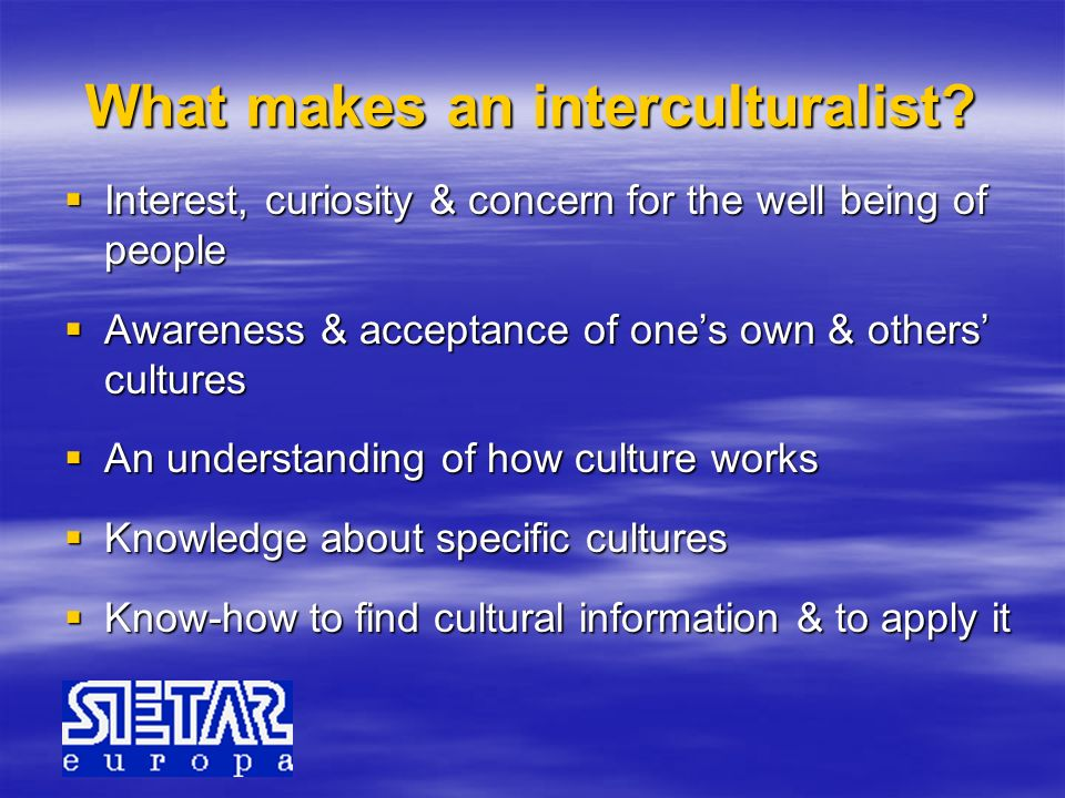 What makes an interculturalist