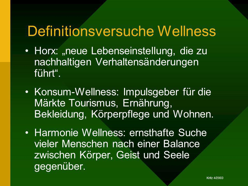 Definitionsversuche Wellness