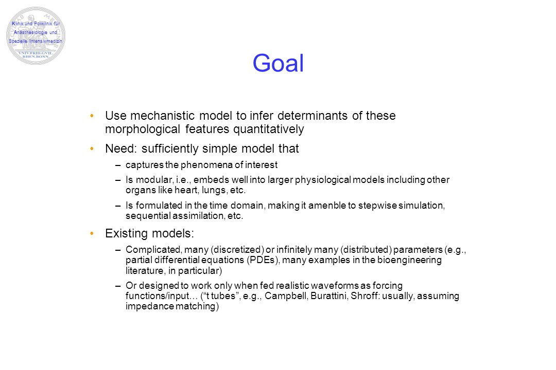 Goal Use mechanistic model to infer determinants of these morphological features quantitatively. Need: sufficiently simple model that.