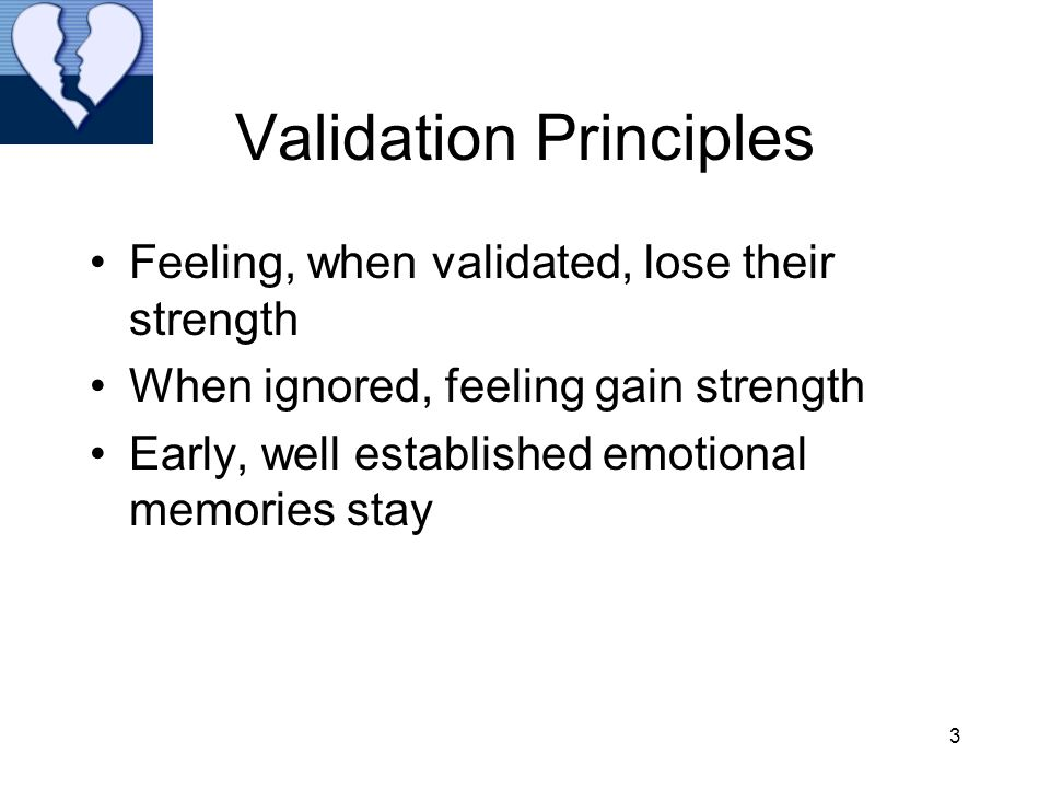 Validation Principles