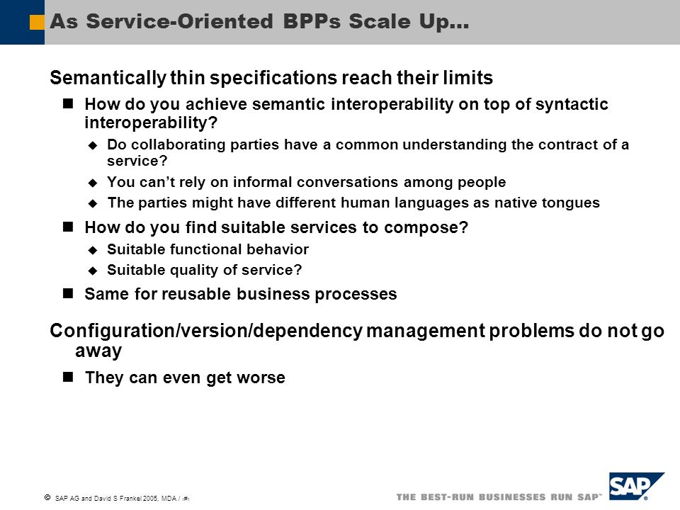 As Service-Oriented BPPs Scale Up…