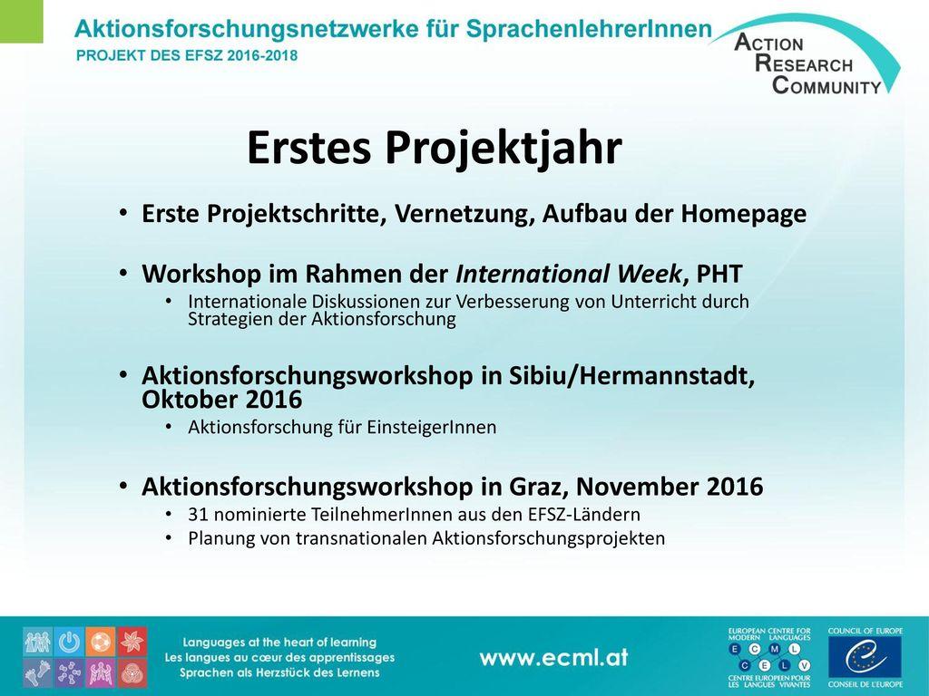 Aktionsforschungsnetzwerke für SprachenlehrerInnen - ppt herunterladen