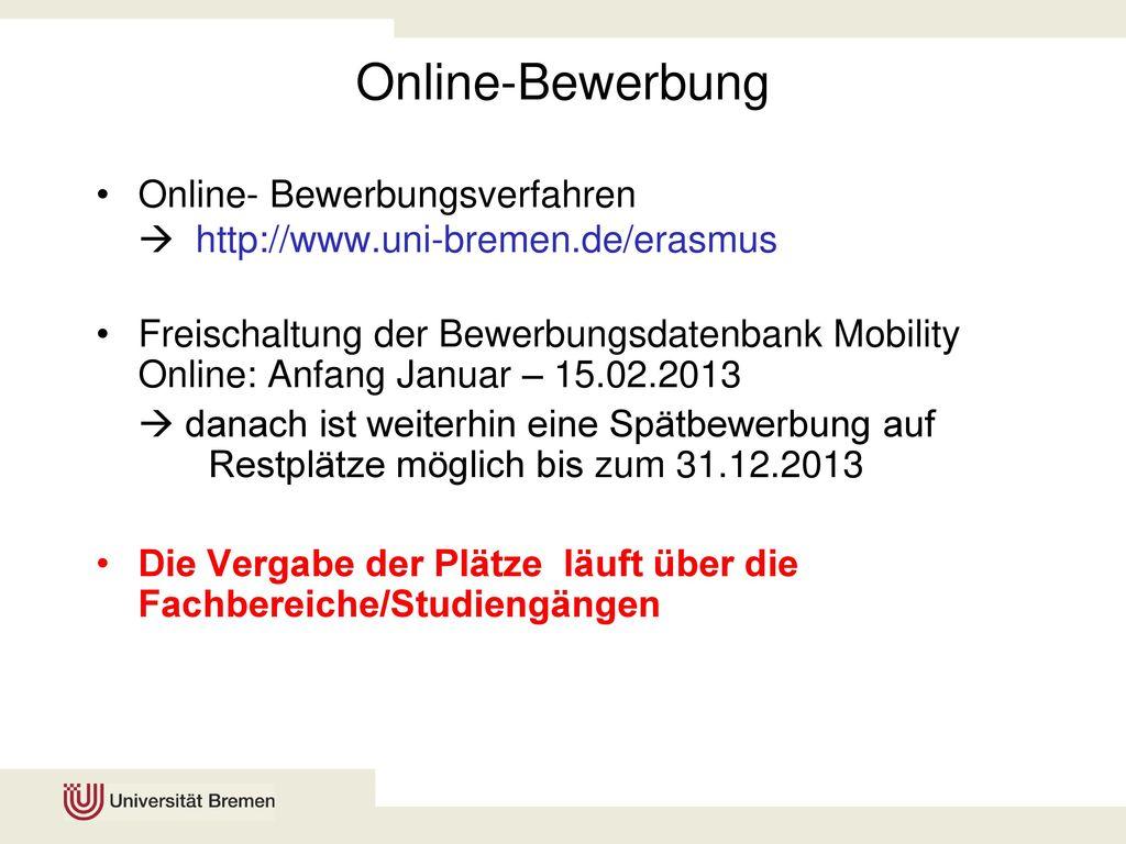 13 online bewerbung online bewerbungsverfahren - Uni Bremen Online Bewerbung