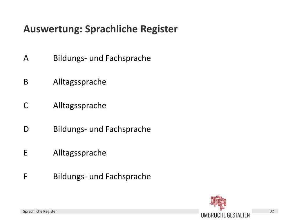 Sprachbildung im Fach – Fortbildungsbaustein 4 - ppt herunterladen