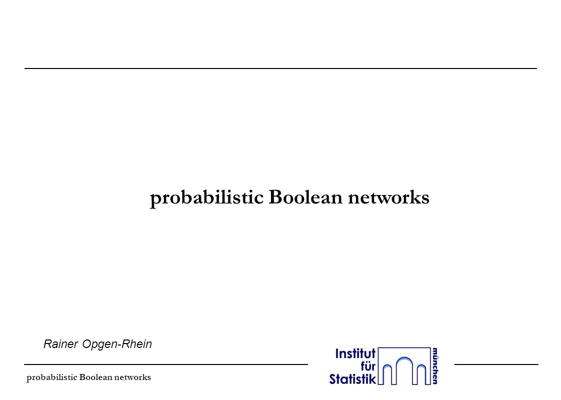 probabilistic Boolean networks