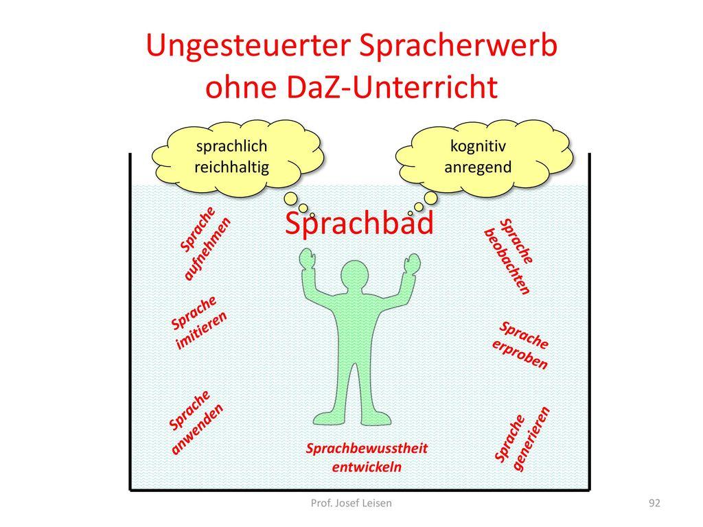 DaZ-Unterricht und sprachsensibler Fachunterricht für Migranten ...
